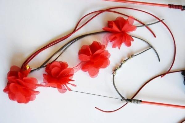 Blumen Angel rot personalisiert