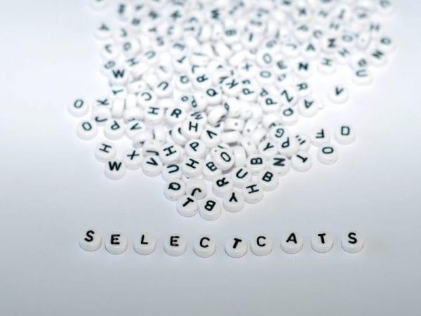 Buchstaben Perlen weiss