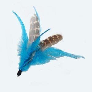 Federanhänger blau